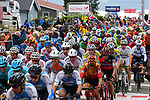 The peloton in action during Stage 4 of the 2018 Artic Race of Norway, running 145.5km from Kvalsund to Alta, Norway. 18th August 2018. <br /> <br /> Picture: ASO/Pauline Ballet | Cyclefile<br /> All photos usage must carry mandatory copyright credit (© Cyclefile | ASO/Pauline Ballet)