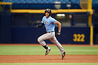 Carlos Vargas (21) runs the bases during the Tampa Bay Rays Instructional League Intrasquad World Series game on October 3, 2018 at the Tropicana Field in St. Petersburg, Florida.  (Mike Janes/Four Seam Images)