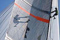 ESP97 - DESAFÍO ESPAÑOL ESP97 TRAINING AGAIN for the II Trofeo Desafío Español - Club Náutico Español de Vela, next 7,8 and 9 Novenber 2008. Team Origin is trainig with ESP88 and soon begins Alinghi SUI100 and Luna Rossa -