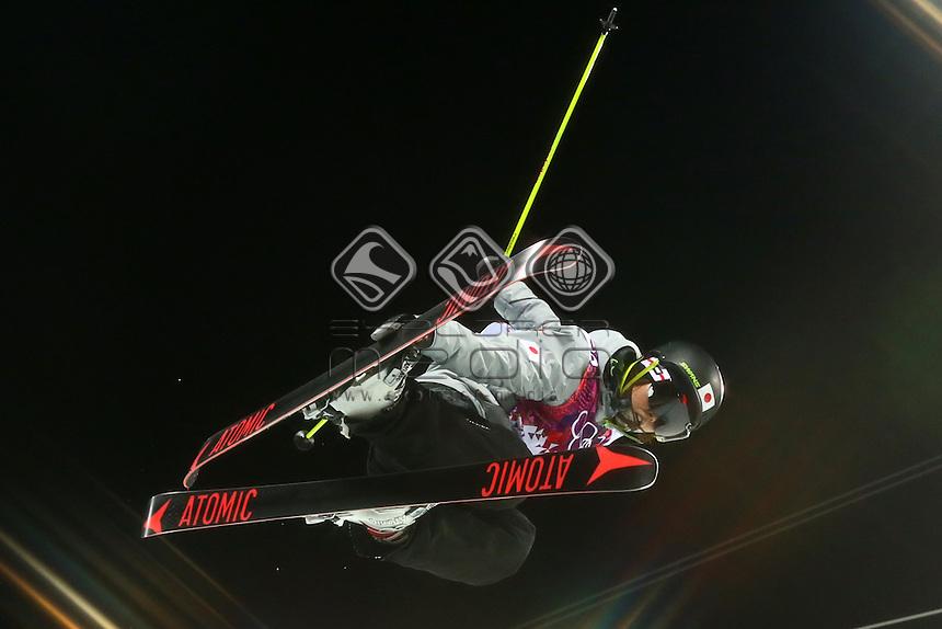 Ayana Onozuka (JPN)<br /> Freestyle Skiing - Halfpipe finals<br /> Rosa Khutor  X-treme Park, Rosa Khutor<br /> 2014 Sochi Winter Olympics - Russia<br /> 20.02.2014 Sochi, Krasnodar Krai, Russia. <br /> © Sport the library / Yohei Osada