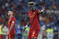 12th September 2021; Olimpico Stadium, Rome, Italy; Serie A championship football, AS Roma versus US Sassulo ; Tammy Abraham of As Roma