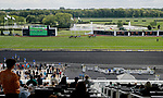 ARLINGTON HEIGHTS, IL - AUGUST 12: Fans watch the third race of the day on Arlington Million Day at Arlington Park on August 12, 2017 in Arlington Heights, Illinois. (Photo by Jon Durr/Eclipse Sportswire/Getty Images)