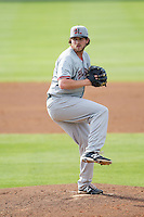 Hickory Crawdads starting pitcher Chad Bell (30) in action against the Kannapolis Intimidators at CMC-Northeast Stadium on May 18, 2014 in Kannapolis, North Carolina.  The Intimidators defeated the Crawdads 6-5 in 10 innings.  (Brian Westerholt/Four Seam Images)