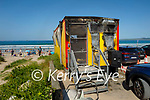 The burnt out Lifeguards hut on Banna Beach on Saturday
