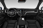 Stock photo of straight dashboard view of 2020 Volvo XC60 Inscription 5 Door SUV Dashboard