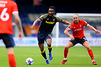 17th October 2020; Kenilworth Road, Luton, Bedfordshire, England; English Football League Championship Football, Luton Town versus Stoke City; Mikel John Obi of Stoke City under pressure from Danny Hylton of Luton Town