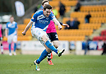 St Johnstone v Dundee…11.03.17     SPFL    McDiarmid Park<br />Blair Alston scores his goal<br />Picture by Graeme Hart.<br />Copyright Perthshire Picture Agency<br />Tel: 01738 623350  Mobile: 07990 594431