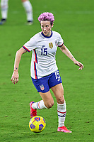 18th February 2021, Orlando, Florida, USA;  United States forward sophia Smith (17) dribbles the ball during a SheBelieves Cup game between Canada and the United States on February 18, 2021 at Exploria Stadium in Orlando, FL.