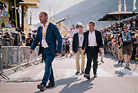 former French president Nicolas Sarkozy at the finish<br /> <br /> Stage 10: Annecy > Le Grand-Bornand (159km)<br /> <br /> 105th Tour de France 2018<br /> ©kramon