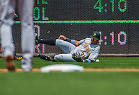 21 June 2015: Pittsburgh Pirates outfielder Jose Tabata is unable to get to a Danny Espinosa blooper single during the 2nd inning against the Washington Nationals at Nationals Park in Washington, DC. The Nationals defeated the Pirates 9-2 to sweep their 3-game weekend series, and improve their record to 37-33. Mandatory Credit: Ed Wolfstein Photo *** RAW (NEF) Image File Available ***