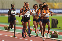 5th September 2020, Brussels, Netherlands;  The Netherlandss Sifan Hassan competes during the One Hour Women at the Diamond League Memorial Van Damme athletics event at the King Baudouin stadium in Brussels, Belgium, Sept. 4, 2020. Hassan set a new world record