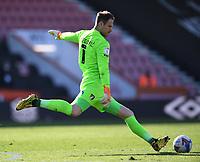 2nd April 2021; Vitality Stadium, Bournemouth, Dorset, England; English Football League Championship Football, Bournemouth Athletic versus Middlesbrough; Asmir Begovic of Bournemouth takes a goal kick