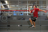 Lafayette College Squash Club: Here Jeremy Turner goes up for a ball.