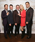 """Ryan Spahn, Leland Wheeler, Lou Liberatore, Anna Holbrook and Matthew Montelongo during the Opening Night Celebration for """"Daniel's Husband"""" at the West Bank on October 28, 2018 in New York City."""