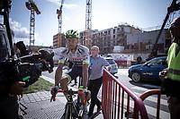 race winner Aimé De Gendt (BEL/Wanty Gobert) post race<br /> <br /> Antwerp Port Epic 2019 <br /> One Day Race: Antwerp > Antwerp 187km<br /> <br /> ©kramon