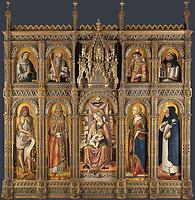 Full title: The Demidoff Altarpiece<br /> Artist: Carlo Crivelli<br /> Date made: 1476