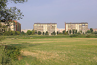 - Milano, Parco Agricolo Sud, sullo sfondo quartieri residenziali di periferia<br /> <br /> - Milan Agricultural Park South, at background suburban   residential districts