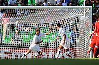.Action photo of Zachary Carroll of USA (L), during game of the FIFA Under 17 World Cup game, held at  Torreon.