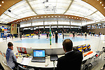 Rüsselsheim, Germany, April 13: Before play off Game 1 in the best of three series in the semifinal of the DVL (Deutsche Volleyball-Bundesliga Damen) season 2013/2014 between the VC Wiesbaden and the Rote Raben Vilsbiburg on April 13, 2014 at Grosssporthalle in Rüsselsheim, Germany. Final score 0:3 (Photo by Dirk Markgraf / www.265-images.com) *** Local caption ***