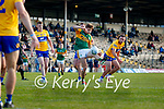 Gavin White, Kerry, in action against Cian O Dea, Clare, during the Munster Football Championship game between Kerry and Clare at Fitzgerald Stadium, Killarney on Saturday.