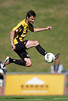 Dominic Rowe controls the ball during the ASB Premiership football match between Team Wellington and Hawkes Bay United at Newtown Park, Wellington, New Zealand on Sunday, 8 April 2012. Photo: Dave Lintott / lintottphoto.co.nz