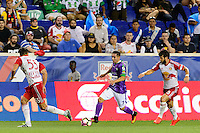Harrison, NJ - Wednesday Aug. 03, 2016: Damien Perrinelle, Kendell Herrarte, Felipe Martins during a CONCACAF Champions League match between the New York Red Bulls and Antigua at Red Bull Arena.