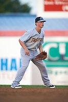 Trenton Thunder second basmean Tony Renda (9) during a game against the Binghamton Mets on August 8, 2015 at NYSEG Stadium in Binghamton, New York.  Trenton defeated Binghamton 4-2.  (Mike Janes/Four Seam Images)