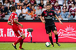 AC Milan Forward Fabio Borini (R) plays against Bayern Munich Defender Rafinha de Souza (L) during the 2017 International Champions Cup China  match between FC Bayern and AC Milan at Universiade Sports Centre Stadium on July 22, 2017 in Shenzhen, China. Photo by Marcio Rodrigo Machado / Power Sport Images