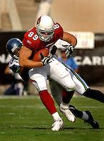 Nov. 6, 2005; Tempe, AZ, USA; Tight end (89) Adam Berger of the Arizona Cardinals against the Seattle Seahawks at Sun Devil Stadium. Mandatory Credit: Mark J. Rebilas