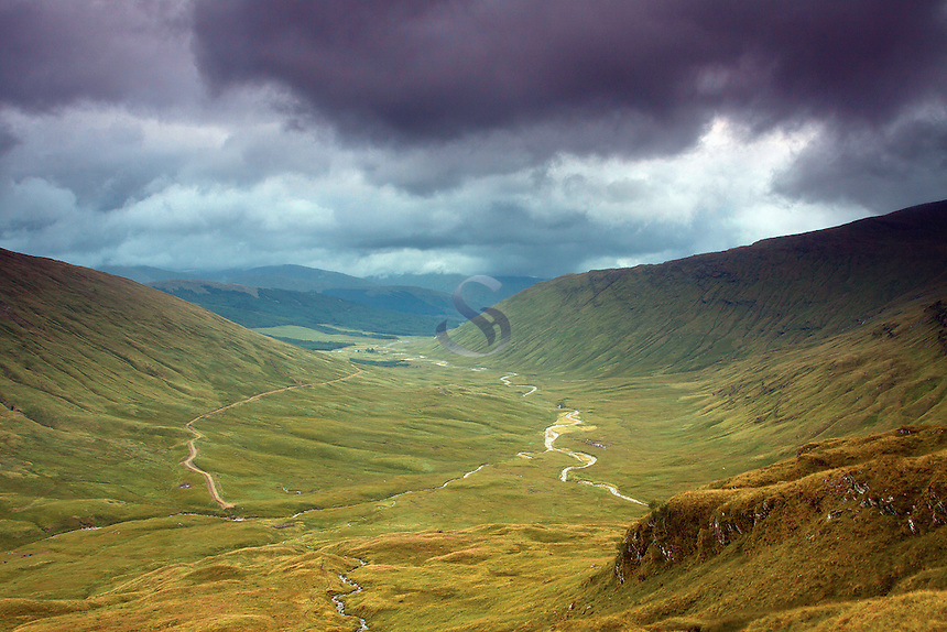 The River Cononish from Ben Lui, Ben Lui National Nature Reserve, Stirlingshire