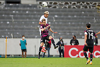 GUADALAJARA, MEXICO - MARCH 24: Julian Araujo #2 of the United States and Jesus Ricardo #19 of Mexico battle during a game between Mexico and USMNT U-23 at Estadio Jalisco on March 24, 2021 in Guadalajara, Mexico.