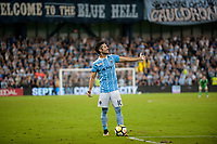 Kansas City, KS - Wednesday August 9, 2017: Benny Feilhaber during a Lamar Hunt U.S. Open Cup Semifinal match between Sporting Kansas City and the San Jose Earthquakes at Children's Mercy Park.