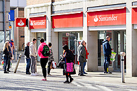 Pictured: A general view of Santander in Swansea City Centre during the Covid-19 Coronavirus pandemic in Wales, UK, Swansea, Wales, UK. Monday 23 March 2020