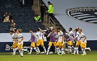 KANSAS CITY, KS - NOVEMBER 22: San Jose Earthquakes celebrate Wondolowski's goal which ties the game in the final minutes of the match before a game between San Jose Earthquakes and Sporting Kansas City at Children's Mercy Park on November 22, 2020 in Kansas City, Kansas.