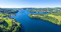 France, Nievre, Regional Natural Park of Morvan, Chaumard, Lac de Panneciere (aerial view) // France, Nièvre (58), Parc naturel régional du Morvan, Chaumard, lac de Pannecière (vue aérienne)