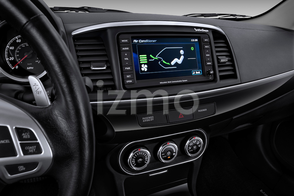 Climate control screen view of a 2012 Mitsubishi Lancer GT Touring
