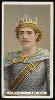 KING EDRED  King of England (946-955) / Unattributed design on a cigarette card / -955