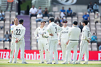 The players wait for the outcome of the decision review system during India vs New Zealand, ICC World Test Championship Final Cricket at The Hampshire Bowl on 23rd June 2021