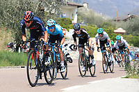 23rd April 2021; Cycling Tour des Alpes Stage 5, Valle del Chiese to Riva del Garda, Italy;  Riders on the uphill climb