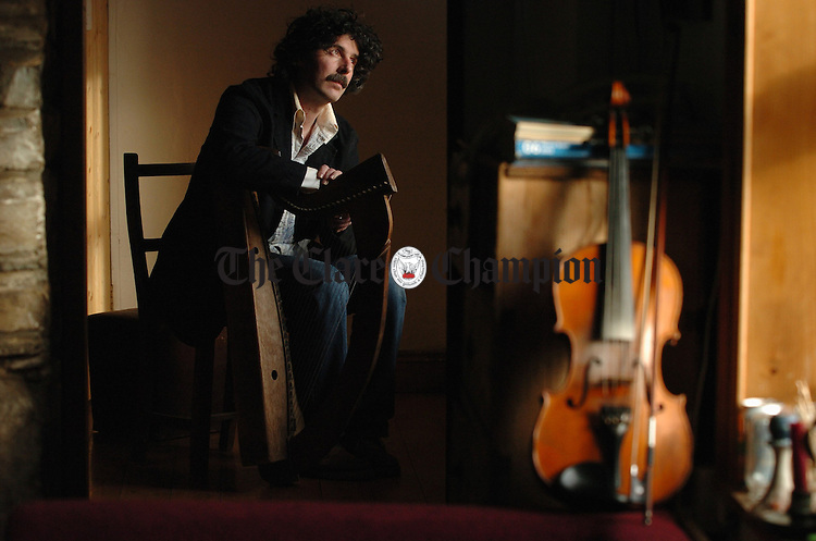 Musician Paul Dooley  at home in Ennistymon.Photograph by John Kelly...Musician Paul Dooley at home in Ennistymon. Photograph by John Kelly.