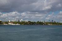 Miami, Florida.  Miami Skyline, Biscayne Bay.