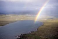 Rainbow, tundra, Central Barrenlands, Nunavut, Canada