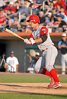 C David Doss of the Williamsport Crosscutters, the short season A ball affiliate of the Philadelphia Phillies,at Edward LeLacheur Park in Lowell,MA on July 18, 2009 (Photo by Ken Babbitt/Four Seam Images)