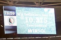 Nur 10.375 Zuschauer beim DFB-Pokal Achtelfinale in Hoffenheim
