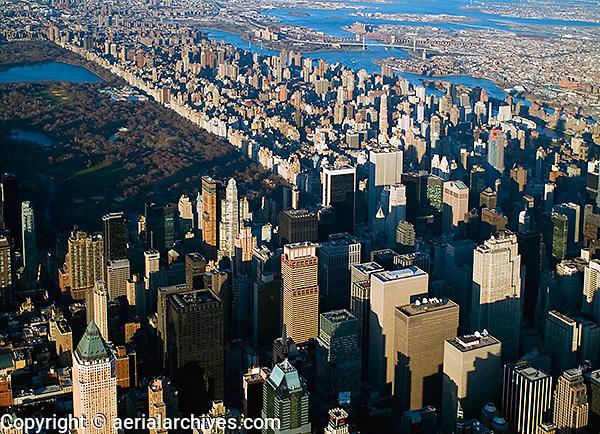 aerial photograph midtown Manhattan, upper East side New York City