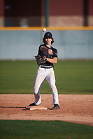 Peyton Chatagnier (3) of CY-Fair High School in Cypress, Texas during the Baseball Factory All-America Pre-Season Tournament, powered by Under Armour, on January 13, 2018 at Sloan Park Complex in Mesa, Arizona.  (Mike Janes/Four Seam Images)
