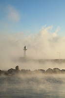 """Lighthouse in Sea Smoke""<br />