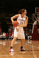 25 February 2006: Morgan Clyburn during Stanford's 78-47 win over the Washington State Cougars at Maples Pavilion in Stanford, CA.