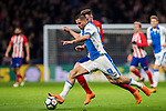 Gabriel Appelt Pires of CD Leganes battles for the ball with Saul Niguez Esclapez of Atletico de Madrid during the La Liga 2017-18 match between Atletico de Madrid and CD Leganes at Wanda Metropolitano on February 28 2018 in Madrid, Spain. Photo by Diego Souto / Power Sport Images