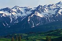 Takhinsha Mountains, Alaska<br />   from Three Guardsmen Pass<br /> Haines Highway<br /> British Columbia,  Canada